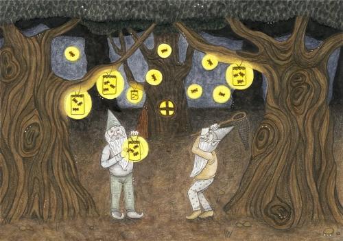 Škrati ponoči lovijo kresničke za razsvetljavo