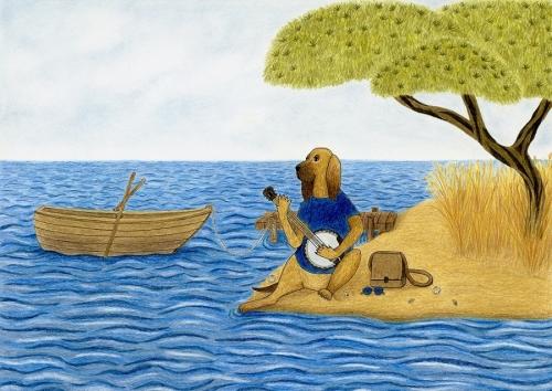 Kuža igra na banjo