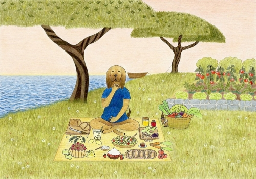 Kuža na pikniku