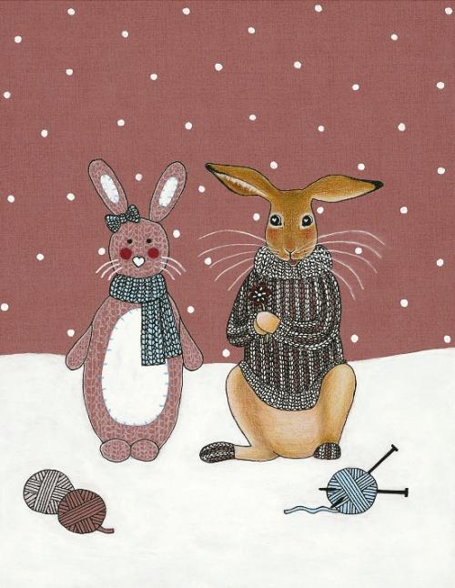 Zajček in volnena zajčica